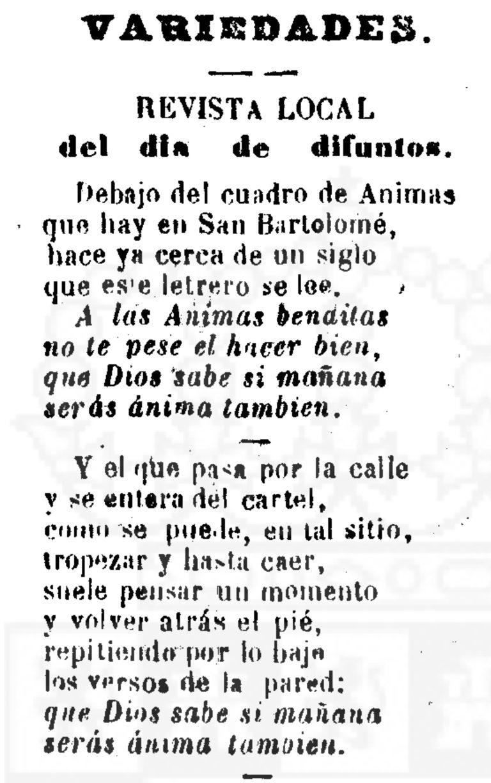 EL DÍA DE DIFUNTOS DE 1876