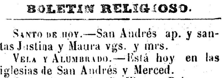 LA FESTIVIDAD DE SAN ANDRÉS EN LA HUERTA DE MURCIA. AYER Y HOY
