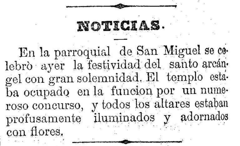 FIESTAS EN EL BARRIO DE SAN MIGUEL (MURCIA) EN 1881