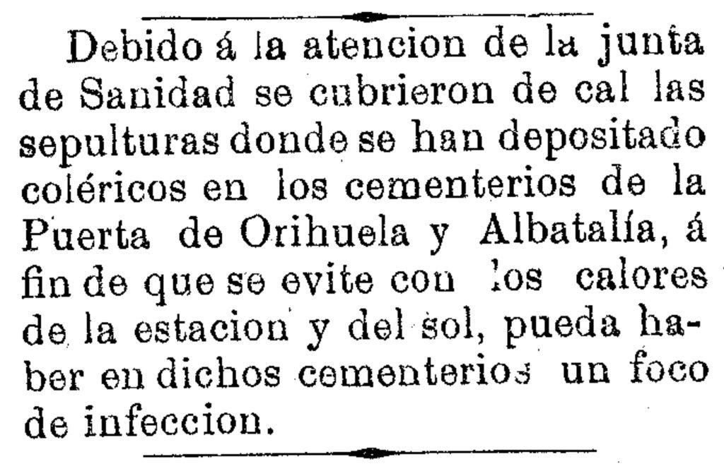 Fuente: Diario de Murcia. 19 de junio de 1885, p. 3.