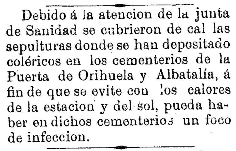 CEMENTERIOS DE MURCIA: SIGLO XIX