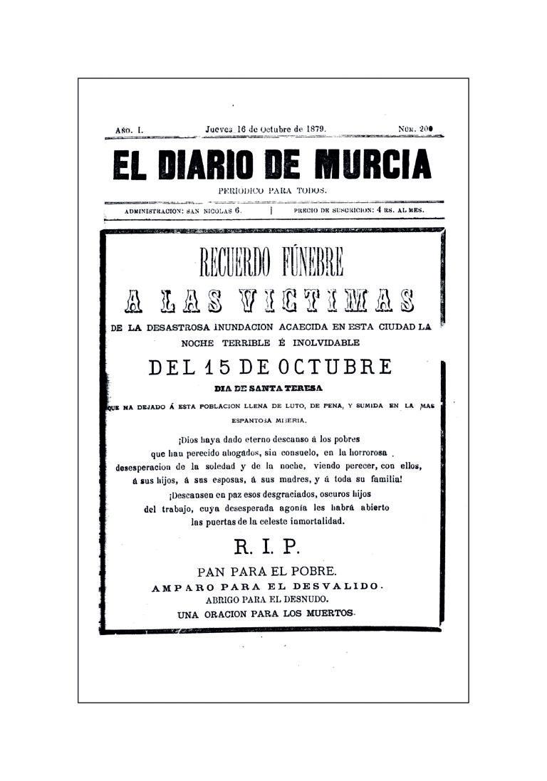 LA RIADA DE SANTA TERESA DE 1879: UNA TRAGEDIA EN LA HUERTA DE MURCIA