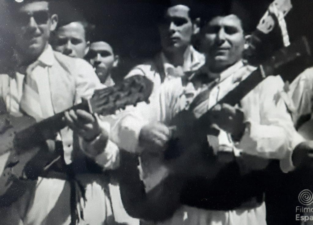Músicos en el Bando de la Huerta de Murcia, año 1955