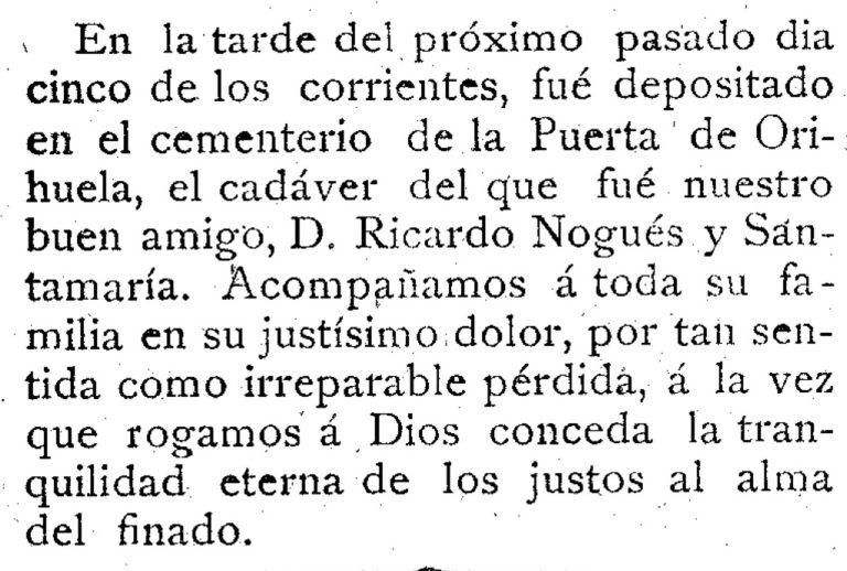 EL CEMENTERIO DE PUERTAS DE ORIHUELA. SANTA EULALIA (MURCIA)