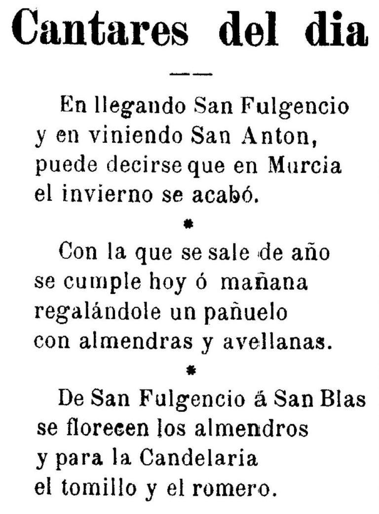 EL CANCIONERO POPULAR. SANTA EULALIA (MURCIA)