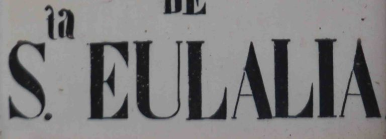 CRONOGRAMA. YACIMIENTO 1963: SANTA EULALIA (MURCIA)