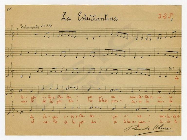 La Estudiantina o Jota navideña. Composición musical de la navidad en la huerta de Murcia