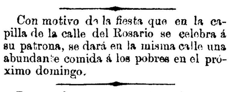 LA CALLE DEL ROSARIO. SANTA EULALIA (MURCIA)
