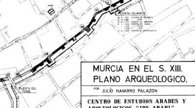 Plano arqueológico. Murcia en el siglo XII. Julio Navarro.