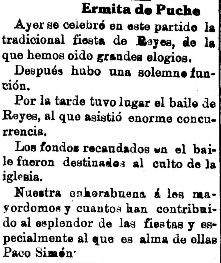 UN BAILE EN LA ERMITA DE PUCHE. SANTIAGO Y ZARAICHE (MURCIA)
