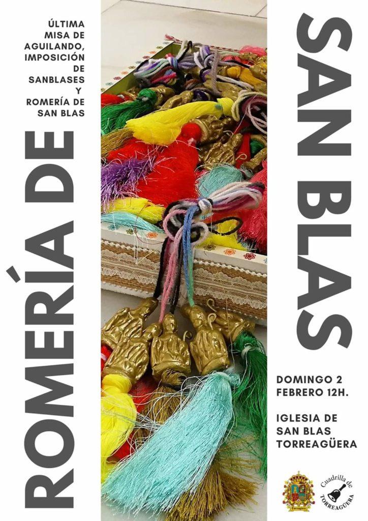Cartel de la Romería de San Blas en Torreagüera