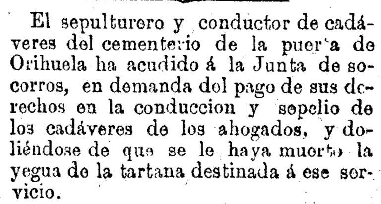 SEPULTURERO DEL CEMENTERIO DE PUERTA DE ORIHUELA (1879)