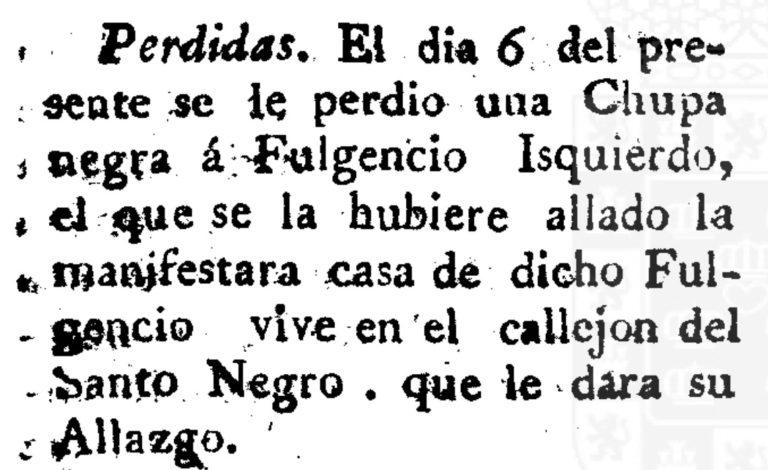 La chupa en Murcia durante el siglo XVIII – XIX