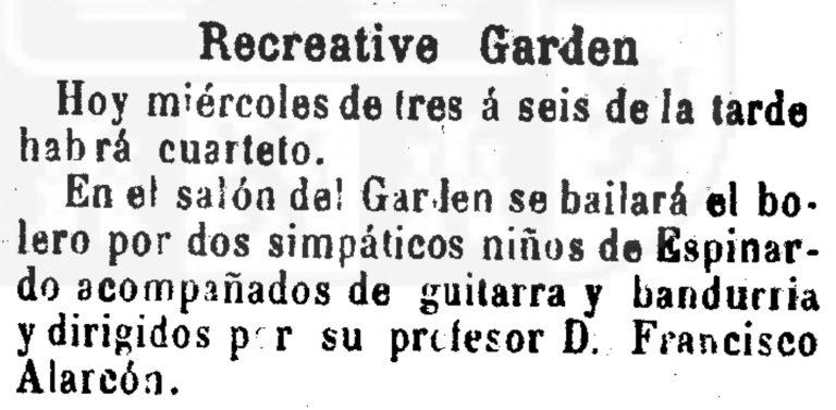 BAILE BOLERO EN ESPINARDO (MURCIA). 1902.