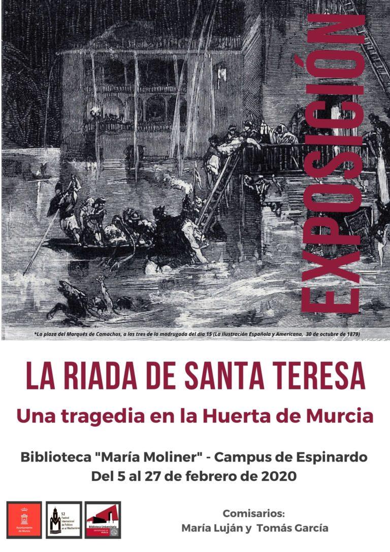 LA EXPOSICIÓN SOBRE LA RIADA DE SANTA TERESA EN LA BIBLIOTECA GENERAL DEL CAMPUS DE ESPINARDO