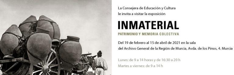 Inmaterial. Patrimonio y memoria colectiva. Archivo General de la Región de Murcia